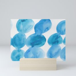 22  |  190408 Blue Abstract Watercolour Mini Art Print
