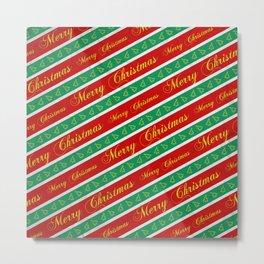Christmas Wrapping Paper Metal Print