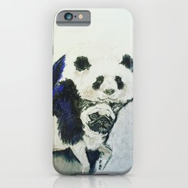 Pug and Panda after food iPhone Case