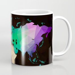 World map background in polygonal style. Modern elements world map Coffee Mug