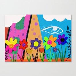 Floral Eye Canvas Print