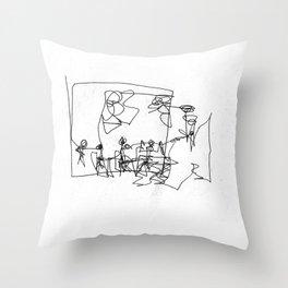 Abbey Road (?) Throw Pillow