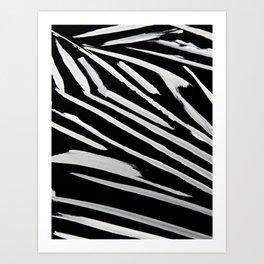 Black and White Stripes: a minimal, abstract pattern by Alyssa Hamilton Art Art Print