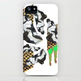 Bent Chrome Junk // Frozen Paint Drop iPhone Case