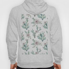 Cactus Pretty Pink + Green Hoody