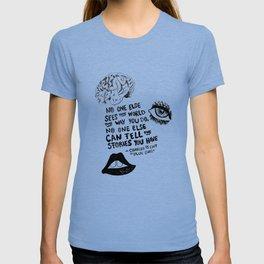 Blue Girl Charles de Lint T-shirt