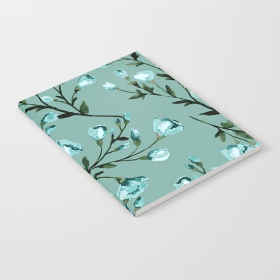 Blue flowers pattern Notebook
