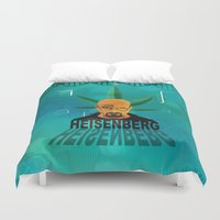 heisenberg Duvet Covers featuring HEISENBERG by Tony Vazquez