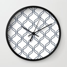 Double Helix - Navy #535 Wall Clock