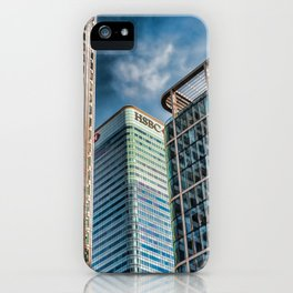 London Photography Canary Wharf HSBC Tower iPhone Case