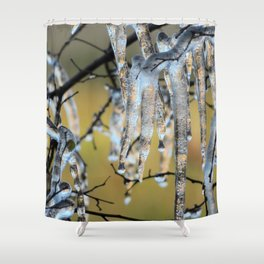 Icicles on a small tree Shower Curtain
