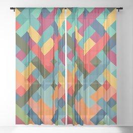 Weave Pattern Sheer Curtain