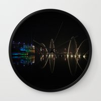 new year Wall Clocks featuring New Year by theGalary