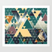 Triangle Forest Art Print