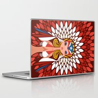 chile Laptop & iPad Skins featuring FIFA 2014 Samba Girls Series: Chile by Pweety Sexxay