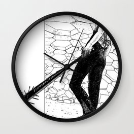 asc 342 - La fleur sauvage (Do you feel the beat now ?) Wall Clock