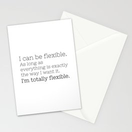 I'm totally flexible - GG Collection Stationery Cards