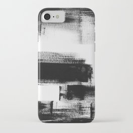 No. 85 Modern abstract black and white painting iPhone Case