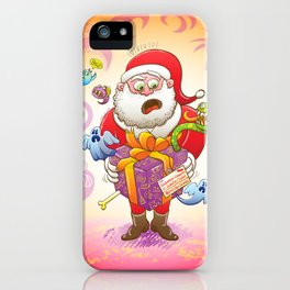 A Christmas Gift from Halloween Creepies to Santa iPhone Case