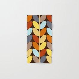 Retro 70s Color Palette Leaf Pattern Hand & Bath Towel