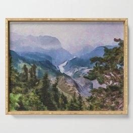Burroughs Mountain Trail, Mt. Rainier National Park Serving Tray