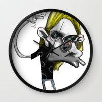 kurt rahn Wall Clocks featuring Kurt by Hanif