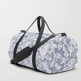 Delicious Autumn botanical poison IV // blue grey background Duffle Bag