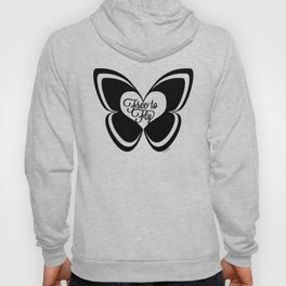 FREE TO FLY butterfly - black Hoody