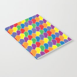Pride Heart Scale Pattern Notebook