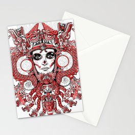 Red Serpent Queen Stationery Cards
