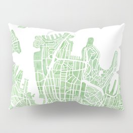 Sydney Australia watercolor city map Pillow Sham