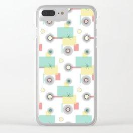 Atomic Retro Geo Clear iPhone Case