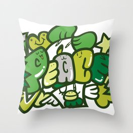 平和 - PEACE Throw Pillow