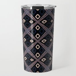 African Mud Cloth Inspired Pattern Travel Mug