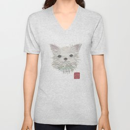 CHIHUAHUA, Long Haired Chihuahua, Dog Unisex V-Neck