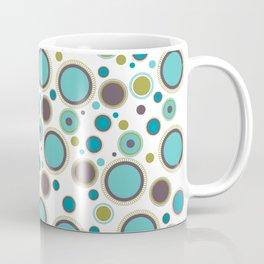 Aqua Circles Coffee Mug