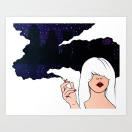 City Smokes Art Print