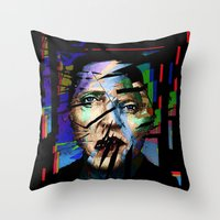 actor Throw Pillows featuring Christopher Walken. Cracked Actor. by brett66