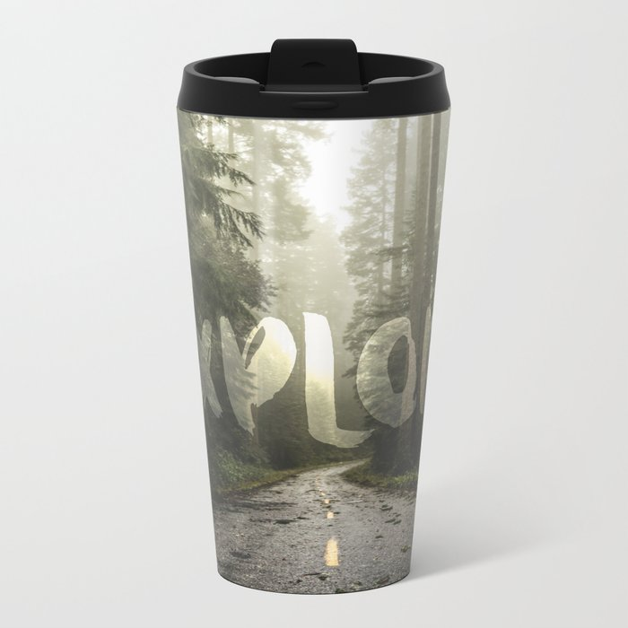 EXPLORE Wanderlust Road Trip Metal Travel Mug