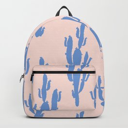 Cactus in Blue pattern Backpack