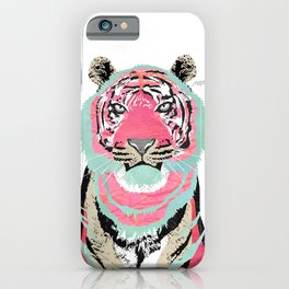 Pink Tiger Collage iPhone Case