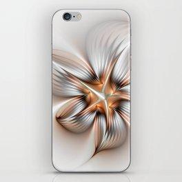 Elegance of a Flower, modern Fractal Art iPhone Skin