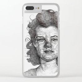 Roxy Renegade Queen of the Roller Derby Clear iPhone Case