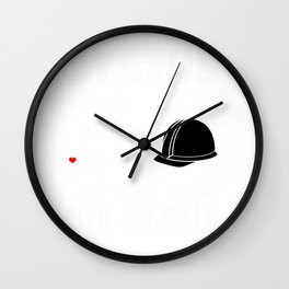 Sexy Civil Engineer for Girlfriend of Engineering  Graphic Wall Clock