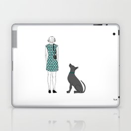 Photographer girl and dog Laptop & iPad Skin