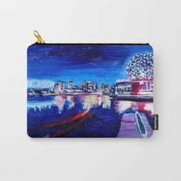 Vancouver skyline at starry night Carry-All Pouch