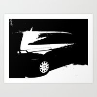 van Art Prints featuring Van by Monochromis