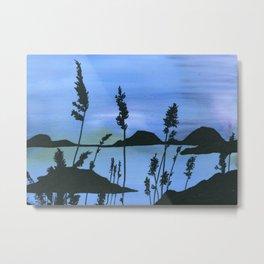 Lake at Dusk Metal Print