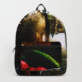 Still-Life Of Milk And Vegetables Backpack