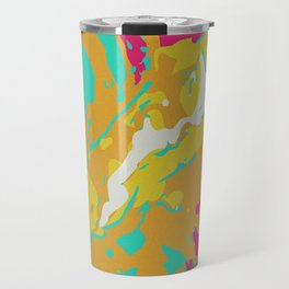Yellow Pink Static Swerve Travel Mug